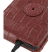 Samsung Galaxy S2 Leather Flip Case (Red Croc Pattern) protective carrying case by PDair