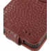 Samsung Galaxy S2 Leather Flip Case (Red Croc Pattern) genuine leather case by PDair