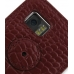 Samsung i8000 Omnia II Leather Flip Cover (Red Croc) protective carrying case by PDair