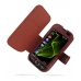 Samsung i8000 Omnia II Leather Flip Cover (Red Croc) offers worldwide free shipping by PDair