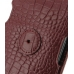 Samsung Galaxy Nexus Leather Flip Case (Red Croc Pattern) protective carrying case by PDair