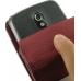 Samsung Galaxy Nexus Leather Flip Case (Red Croc Pattern) handmade leather case by PDair