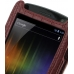 Samsung Galaxy Nexus Leather Flip Case (Red Croc Pattern) top quality leather case by PDair
