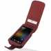 Samsung Galaxy Nexus Leather Flip Case (Red Croc Pattern) custom degsined carrying case by PDair