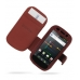 Samsung Google Nexus S Leather Flip Cover (Red Croc) offers worldwide free shipping by PDair