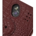 Samsung OMNIA 7 Leather Flip Cover (Red Croc) protective carrying case by PDair