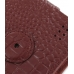 Samsung OMNIA 7 Leather Flip Case (Red Croc Pattern) protective carrying case by PDair