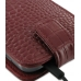 Samsung Galaxy S2 T989 Leather Flip Top Case (Red Croc Pattern) handmade leather case by PDair