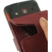 Samsung Galaxy xCcover Leather Flip Case (Red Croc Pattern) handmade leather case by PDair