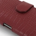 Sony Xperia Z1 Leather Holster Case (Red Croc Pattern) handmade leather case by PDair