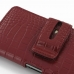 Sony Xperia Z1 Leather Holster Case (Red Croc Pattern) genuine leather case by PDair