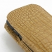 BlackBerry Q10 Pouch Case with Belt Clip (Brown Croc Pattern) handmade leather case by PDair