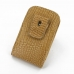 BlackBerry Q10 Pouch Case with Belt Clip (Brown Croc Pattern) top quality leather case by PDair