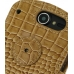 Huawei IDEOS X5 Leather Flip Cover (Brown Croc) protective carrying case by PDair
