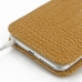 iPhone 6 6s Plus Leather Sleeve Pouch Case (Brown Croc Pattern) protective carrying case by PDair