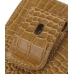 iPhone 4 4s Pouch Case with Belt Clip (Brown Croc Pattern) protective carrying case by PDair