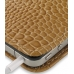 iPhone 4 4s Pouch Case with Belt Clip (Brown Croc Pattern) handmade leather case by PDair
