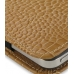 iPhone 4 4s Pouch Case with Belt Clip (Brown Croc Pattern) genuine leather case by PDair
