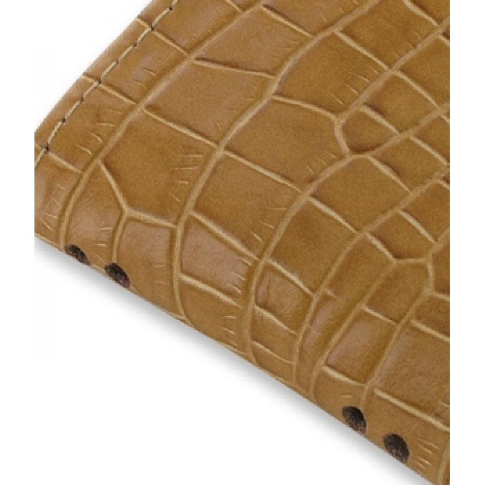 iphone 4 4s pouch with belt clip brown croc pattern