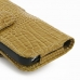iPhone 5 5s (in Slim Cover) Holster Case (Brown Croc Pattern) protective carrying case by PDair