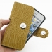 iPhone 5 5s (in Slim Cover) Holster Case (Brown Croc Pattern) genuine leather case by PDair