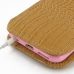 iPhone 6 6s (in Slim Cover) Pouch Case (Brown Croc Pattern) protective carrying case by PDair