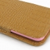 iPhone 6 6s (in Slim Cover) Pouch Case (Brown Croc Pattern) handmade leather case by PDair