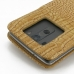 LG G3 Leather Flip Cover (Brown Croc) protective carrying case by PDair