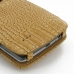 LG G3 Leather Flip Cover (Brown Croc) handmade leather case by PDair