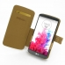 LG G3 Leather Flip Cover (Brown Croc) top quality leather case by PDair