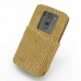 LG G3 Leather Flip Cover (Brown Croc) custom degsined carrying case by PDair