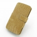 LG G3 Leather Flip Cover (Brown Croc) offers worldwide free shipping by PDair