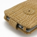 LG G3 Leather Flip Case (Brown Croc Pattern) protective carrying case by PDair