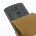 LG G3 Leather Flip Case (Brown Croc Pattern) genuine leather case by PDair