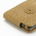 LG G3 Leather Flip Top Case (Brown Croc Pattern) handmade leather case by PDair