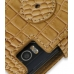 Motorola Milestone 2 / DROID 2 Leather Flip Cover (Brown Croc) protective carrying case by PDair