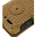 Motorola Droid 3 Leather Flip Cover (Brown Croc) protective carrying case by PDair