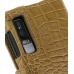 Motorola Droid 3 Leather Flip Cover (Brown Croc) handmade leather case by PDair