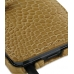 Motorola Droid 3 Leather Flip Cover (Brown Croc) genuine leather case by PDair