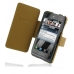 Motorola Droid 3 Leather Flip Cover (Brown Croc) custom degsined carrying case by PDair
