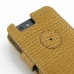 Motorola Droid Razr Maxx Leather Flip Cover (Brown Croc) protective carrying case by PDair