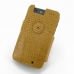 Motorola Droid Razr Maxx Leather Flip Cover (Brown Croc) custom degsined carrying case by PDair
