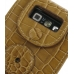 Nokia E71 Leather Sleeve Case (Brown Croc Pattern) protective carrying case by PDair
