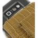 Nokia E71 Pouch Case with Belt Clip (Brown Croc Pattern) protective carrying case by PDair
