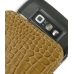 Nokia E71 Leather Sleeve Pouch Case (Brown Croc Pattern) protective carrying case by PDair
