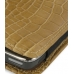Nokia E71 Leather Sleeve Pouch Case (Brown Croc Pattern) genuine leather case by PDair
