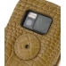 Nokia N97 Leather Flip Cover (Brown Croc) protective carrying case by PDair