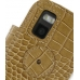 Nokia N97 mini Leather Flip Cover (Brown Croc) protective carrying case by PDair