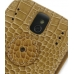 Sprint Palm Pixi Leather Flip Cover (Brown Croc) protective carrying case by PDair