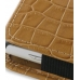 Sony Ericsson Xperia X10 Mini Leather Sleeve Pouch Case (Brown Croc) handmade leather case by PDair